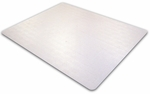 48''W x 60''L Ecotex Enhanced Polymer Rectangular Shaped Chairmat for Standard Pile Carpets [ECO114860EP-FS-FTX]