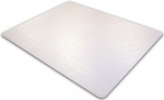 48''W x 79''L Ecotex Enhanced Polymer Rectangular Shaped Chairmat for Standard Pile Carpets [ECO114879EP-FS-FTX]