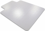 36''W x 48''L Ecotex Enhanced Polymer Rectangular with Lip Shaped Chairmat for Standard Pile Carpets [ECO113648LP-FS-FTX]