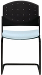 Eddy Armless Sled Base Stack Side Chair with Upholstered Seat Pad [ED4110-FS-DV]