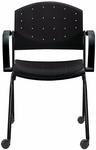 Eddy Stack Side Chair on Casters [ED4072-FS-DV]
