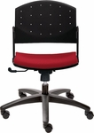 Eddy Swivel Chair with Upholstered Seat Pad [ED4410-FS-DV]