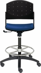 Eddy Tall Height Swivel Stool with Upholstered Seat Pad [ED4410-680-FS-DV]