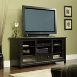 Edge Water 59''W x 27''H Wooden Entertainment Credenza with Adjustable Center Shelf - Estate Black [409048-FS-SRTA]