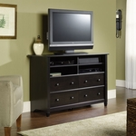 Edge Water 31'' Highboy Wooden Entertainment Center with 2 Adjustable Shelves - Estate Black [409242-FS-SRTA]