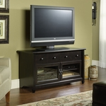 Edge Water 44''W x 24''H Wooden Entertainment Center with 2 Tempered Glass Doors - Estate Black [409047-FS-SRTA]