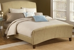 Edgerton Upholstered Arched Bed Set with Rails - Queen - Beige Tweed [1728BQR-FS-HILL]