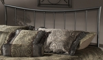 Edgewood Metal Headboard with Rails - Full or Queen - Magnesium Pewter [1333HFQR-FS-HILL]