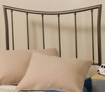 Edgewood Metal Headboard with Rails - Twin - Magnesium Pewter [1333HTWR-FS-HILL]