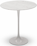 Eero Saarinen Round Tulip Table - 20'' Carrara Marble [MC-T-1702-CARRARA-FS-MLK]