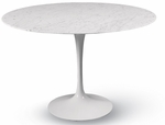 Eero Saarinen Round Tulip Table - 36'' Carrara Marble [MC-T-1706-CARRARA-FS-MLK]
