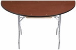 EF Series Half Solid Plywood Core 30''Diameter Round Folding Table - 30''H [HR60EF-MFT]
