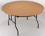 EF Series Solid Plywood Core 42'' Diameter Round Folding Table - 30''H [R42EF-MFT]
