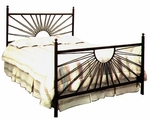 El Sol Wrought Iron Bed with Frame - Full [GMC-IB1-FU-FS-GCM]