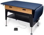 Electric Hi-Lo Changing/Treatment Table with Drawers - 30''W X 52 - 68''L X 27 - 37''H [HAU-4704-FS-HAUS]