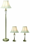 Elegant Designs Antique Brass Three Pack Lamp Set [LC1001-ABS-FS-ATR]
