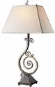 Elegant Designs Pinwheel Scroll Table Lamp with Burnt Copper Finish