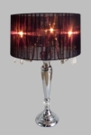 Elegant Designs Trendy Sheer Black Shade Table Lamp with Hanging Crystals [LT1034-BLK-FS-ATR]