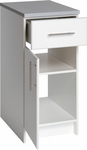 Elite 16'' Base Cabinet with 1 Adjustable Shelf and 1 Drawer - White [WED-1636-FS-PP]