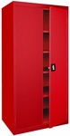 Elite Series 36'' W x 18'' D x 72'' H Double Door Storage Cabinet with Adjustable Shelves - Red [EA4R-361872-01-EEL]