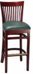 Elongated Vertical Slat Back Barstool [8239B-HND]