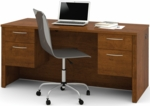 Embassy Executive Desk with Dual Half Pedestals and Drawers - Tuscany Brown [60450-1163-FS-BS]
