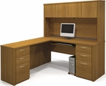 Embassy L-Shaped Workstation Kit in Cappuccino Cherry [60853-68-FS-BS]