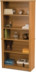 Embassy Modular 5 Shelf Bookcase with Adjustable Shelving - Cappuccino Cherry [60700-3168-FS-BS]