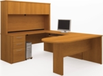 Embassy U-Shaped Assembly with Hutch and Conference Table - Cappuccino Cherry [60856-68-FS-BS]