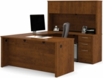 Embassy U-Shape Assembly with Hutch and Executive Desk in Tuscany Brown [60857-63-FS-BS]