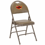 Embroidered HERCULES Series Extra Large Ultra-Premium Triple Braced Beige Vinyl Metal Folding Chair with Easy-Carry Handle [HA-MC705AV-3-BGE-EMB-GG]