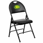 Embroidered HERCULES Series Extra Large Ultra-Premium Triple Braced Black Vinyl Metal Folding Chair with Easy-Carry Handle [HA-MC705AV-3-BK-EMB-GG]