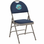 Embroidered HERCULES Series Extra Large Ultra-Premium Triple Braced Navy Fabric Metal Folding Chair with Easy-Carry Handle [HA-MC705AF-3-NVY-EMB-GG]