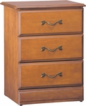Emerson Bedside Cabinet With 3 Drawers [C2030-FS-HKM]
