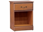 Emerson Bedside Cabinet With Top Drawer And Open Bottom [C2035-FS-HKM]