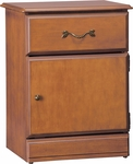 Emerson Bedside Cabinet With1 Drawer And 1 Door [C2032-FS-HKM]