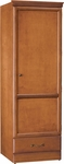Emerson Single Door Wardrobe With Drawer [C2011-FS-HKM]