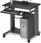 Eastwinds Empire 29.75'' W x 23.5'' D x 29.75'' H Mobile PC Station - Anthracite [945ANT-FS-MAY]