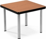 End Table with Four Silver Legs - Cherry [ET2020-CHY-SLG-FS-MFO]