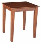 Modern Solid Parawood 21''W X 25''H End Table - Espresso [OT581-700325-FS-WHT]