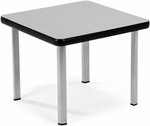 End Table with Four Silver Legs - Gray [ET2020-GRY-SLG-FS-MFO]