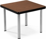 End Table with Four Silver Legs - Mahogany [ET2020-MHGY-SLG-FS-MFO]