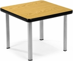 End Table with Four Silver Legs - Oak [ET2020-OAK-SLG-FS-MFO]