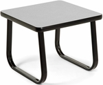 End Table with Sled Base - Gray [TABLE2020-GRY-FS-MFO]