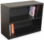 Ensemble 36'' W x 14'' D x 27'' H Two Shelf Bookcase - Dark Neutral [MSBC236-DT-FS-MVL]