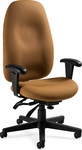 Enterprise High Back Tilter Management Chair with Arms and Casters - Grade 3 [4570-3-GR3-FS-GLO]