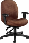 Enterprise Medium Back Tilter Management Chair with Arms and Casters - Grade 3 [4571-4-GR3-FS-GLO]
