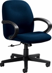 Enterprise QuickShip Low Back Tilter Management Chair with Arms and Casters - Grade 3 [4561-GR3-FS-GLO]