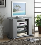 Swivel 3 Shelf Entertainment Stand - Silver [44032-FS-DCON]
