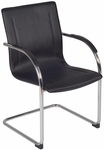 Entrepreneur 36''H Chrome Frame Side Chair - Black Vinyl [8004BK-FS-REG]